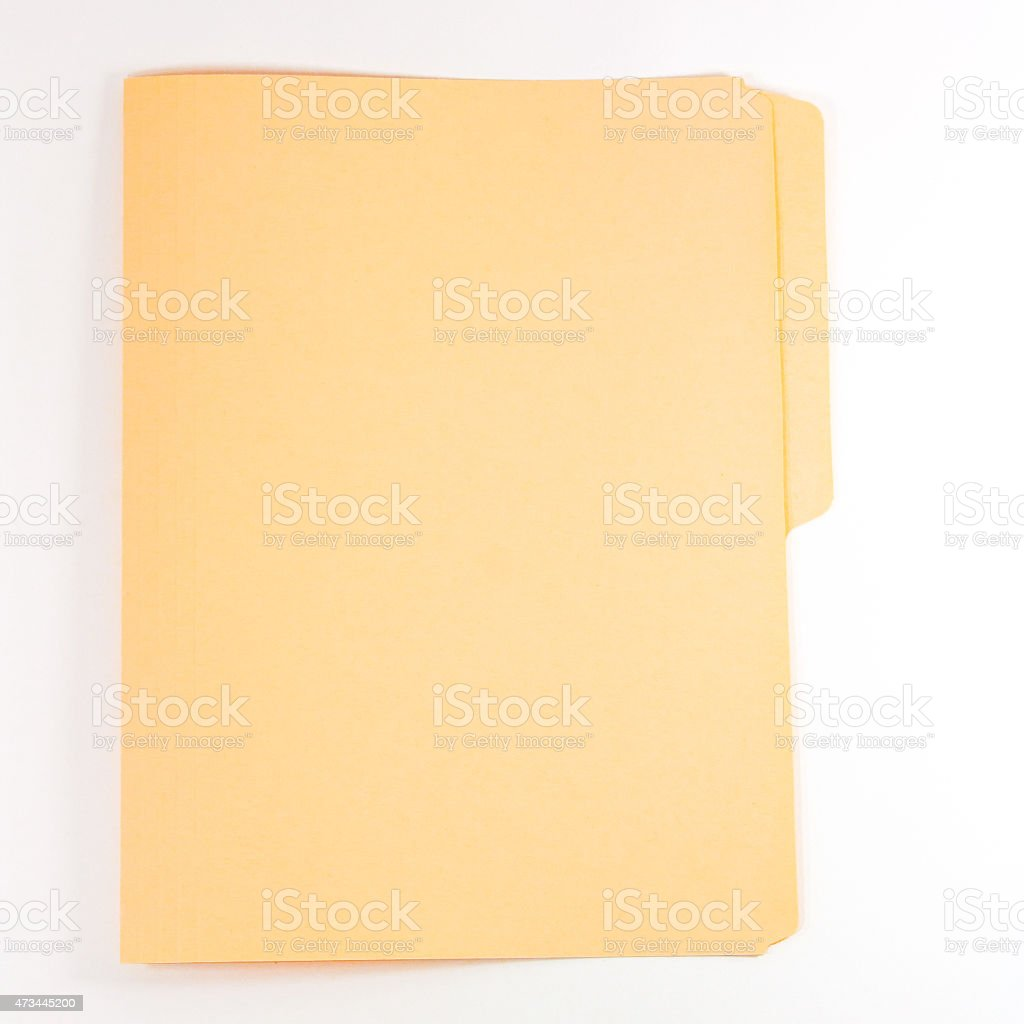 Closed folder stock photo