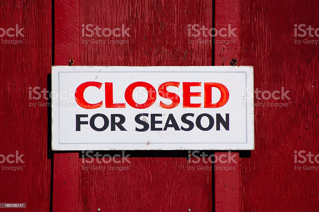 Closed for the Season royalty-free stock photo