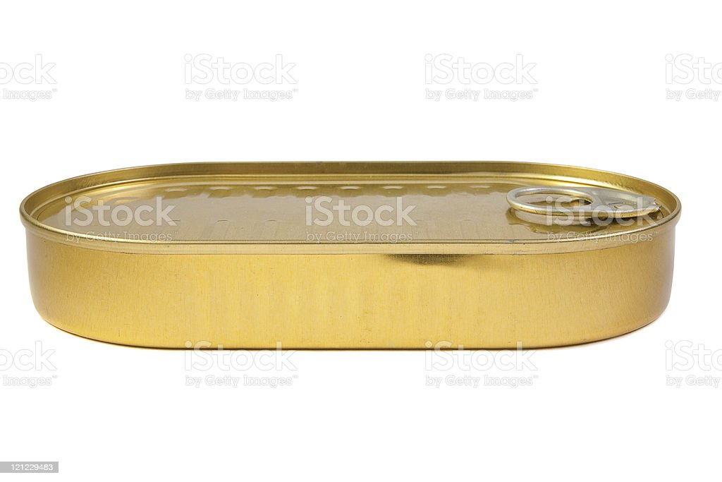 closed gold metal tin royalty-free stock photo