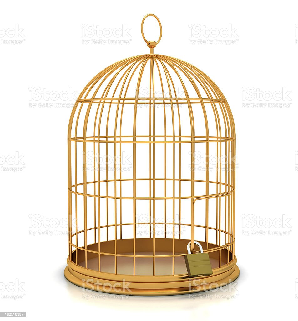 Closed Golden Cage royalty-free stock photo