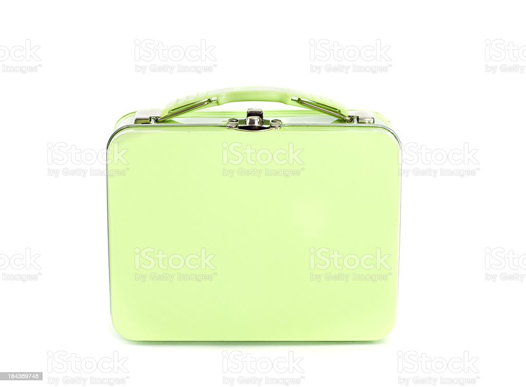 Closed Green Lunchbox stock photo
