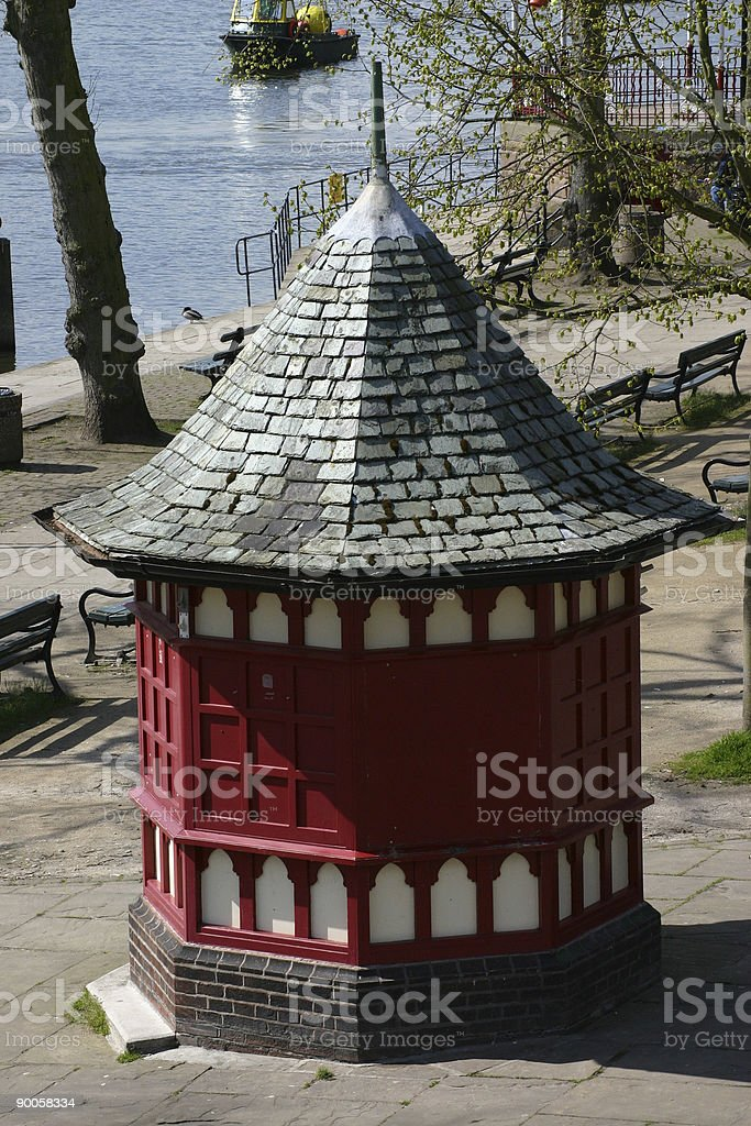 Closed Ice Cream Kiosk in Winter royalty-free stock photo