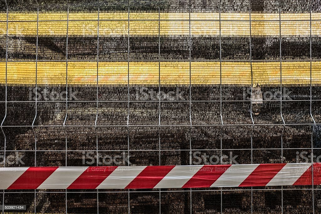 closed industrial area. stock photo