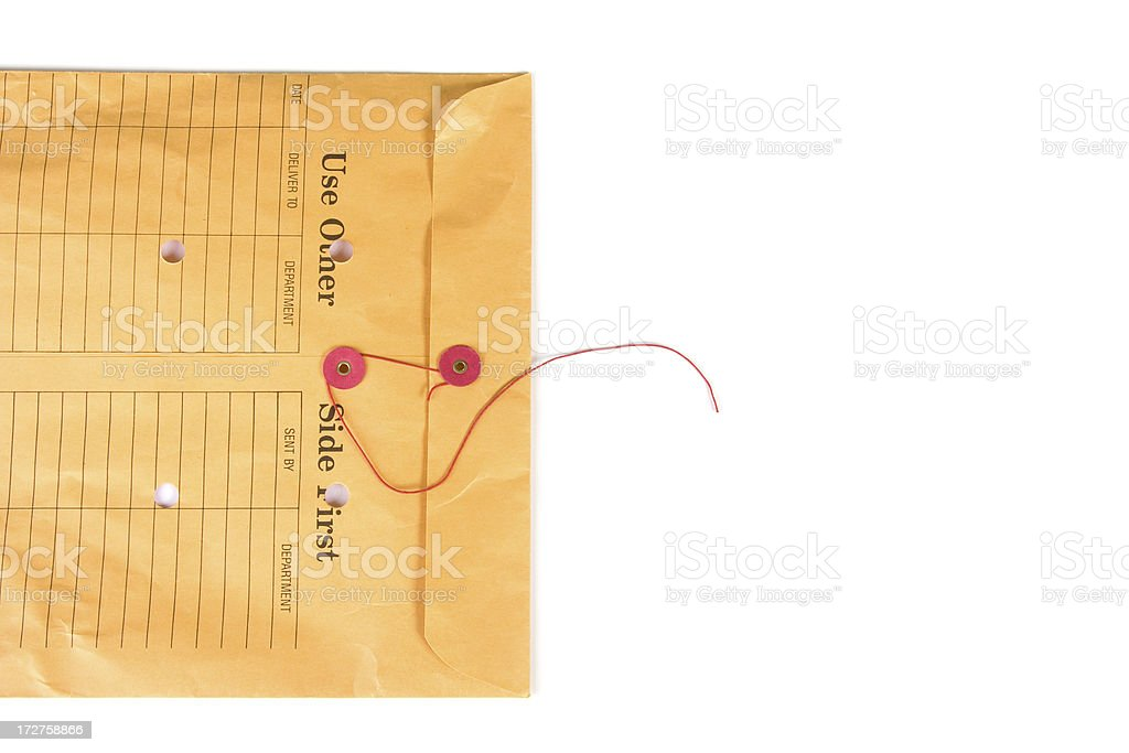 Closed internal mail office envelope stock photo