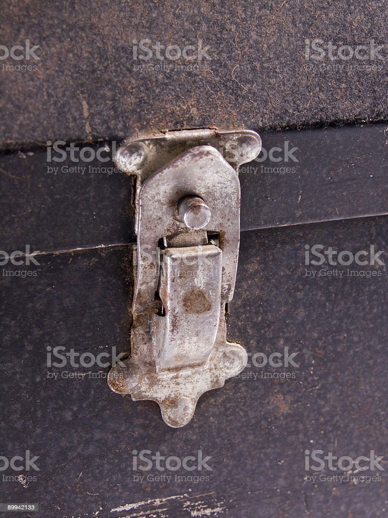 Closed Latch royalty-free stock photo
