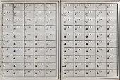 Closed, locked pigeon-hole messagebox or pidge