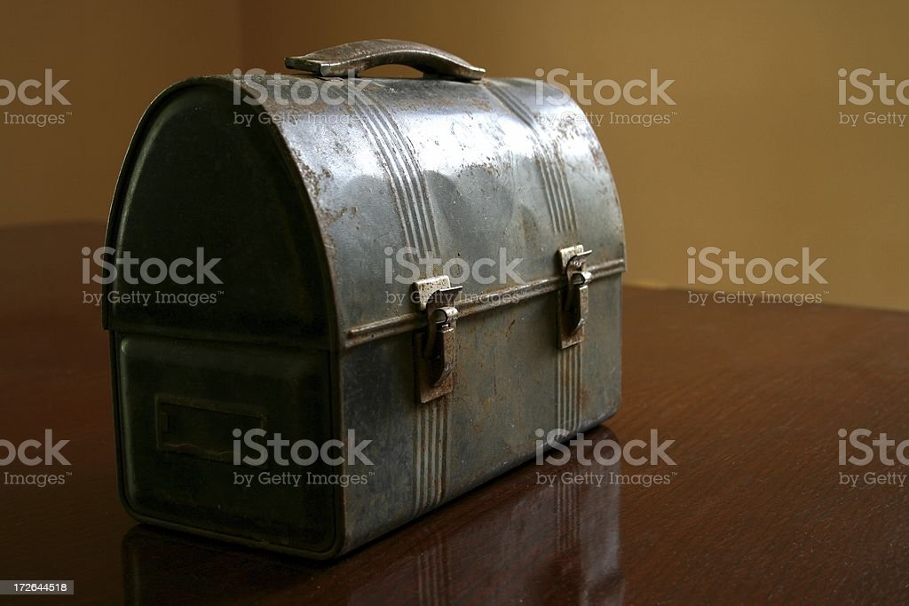 Closed lunch box stock photo