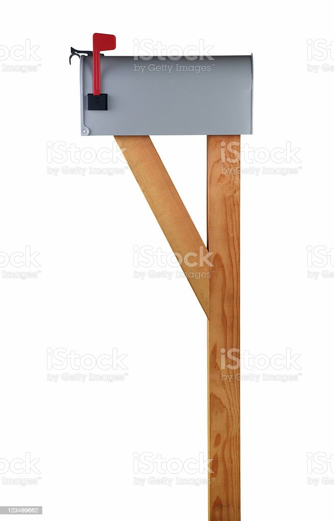 closed mailbox profile royalty-free stock photo