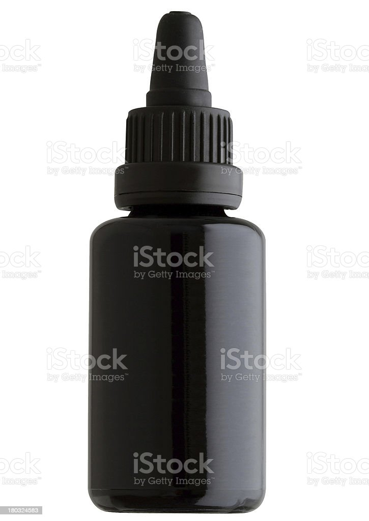 Closed medicine bottle royalty-free stock photo