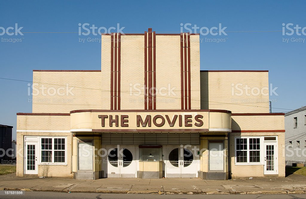 Closed Movie Theater stock photo