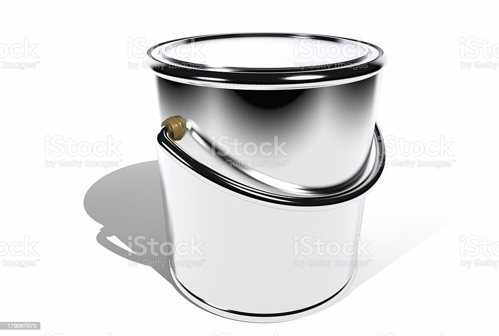 Closed paint can (3D) stock photo