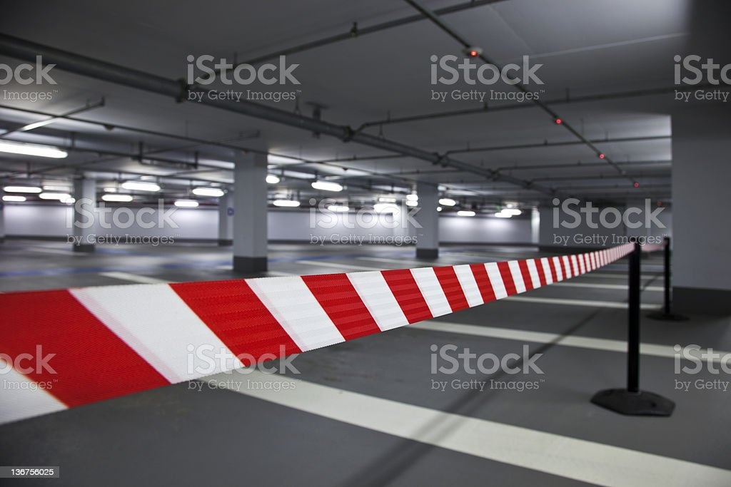 Closed  Parking Garage royalty-free stock photo