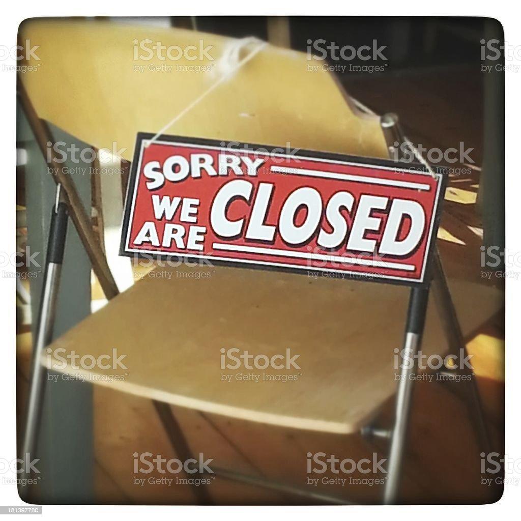 Closed stock photo