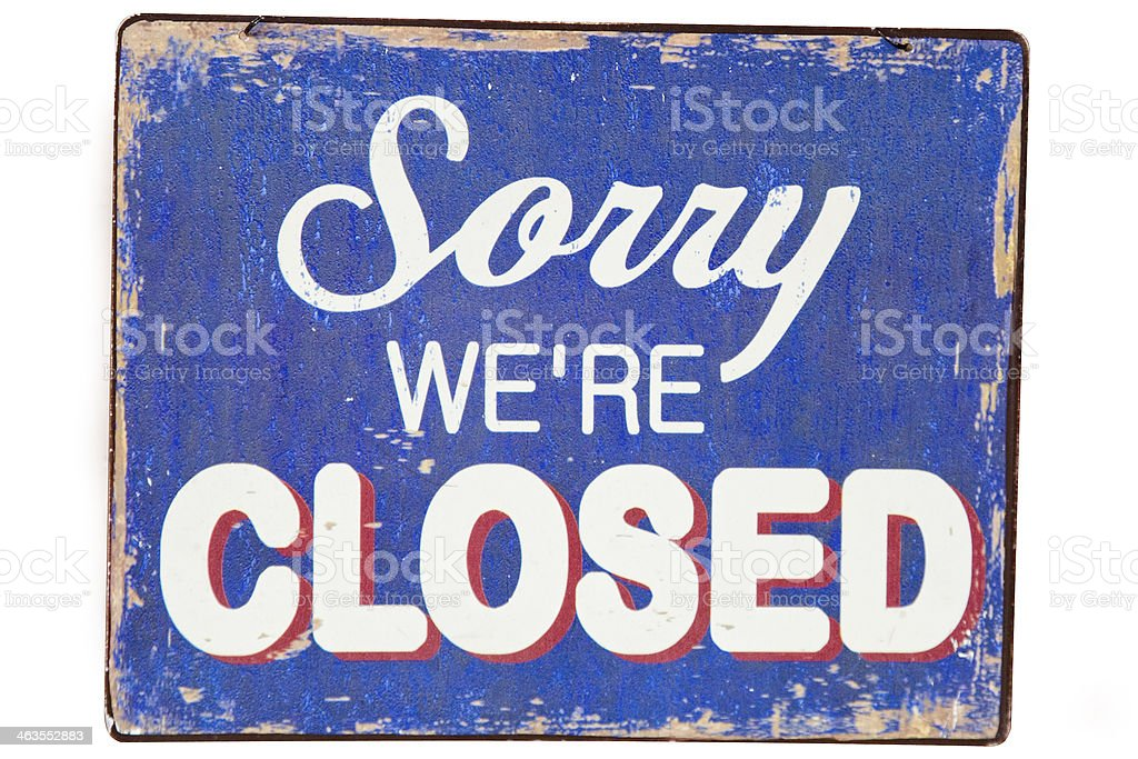 Closed stock photo