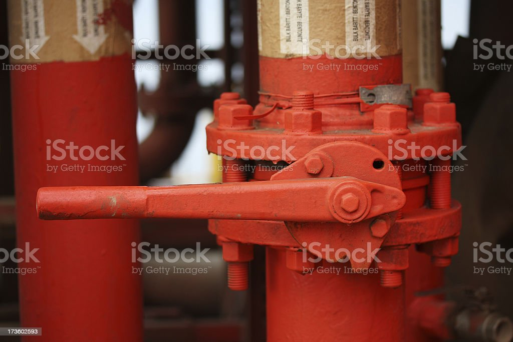 closed pipe valve royalty-free stock photo
