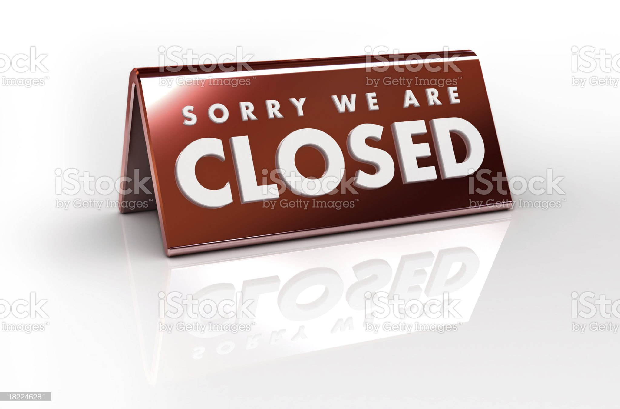 closed place card royalty-free stock photo