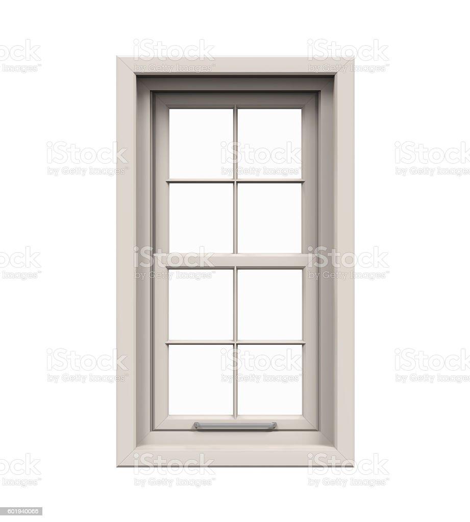 Closed Plastic Window stock photo