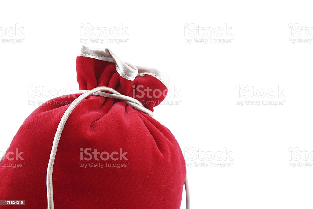 Closed red bag royalty-free stock photo