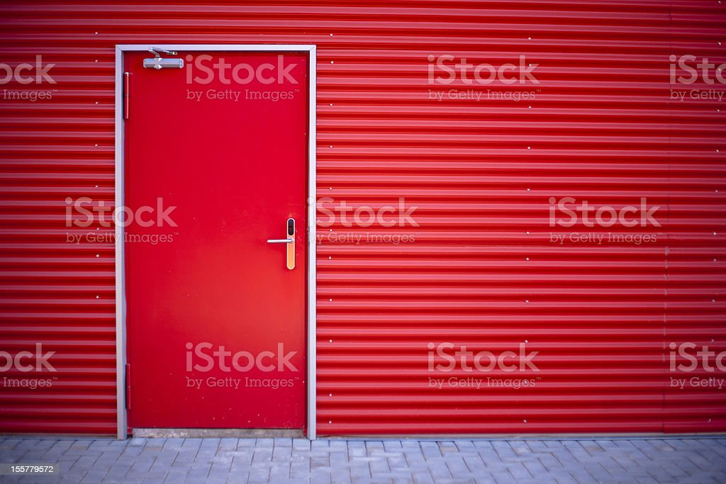 closed red door royalty-free stock photo