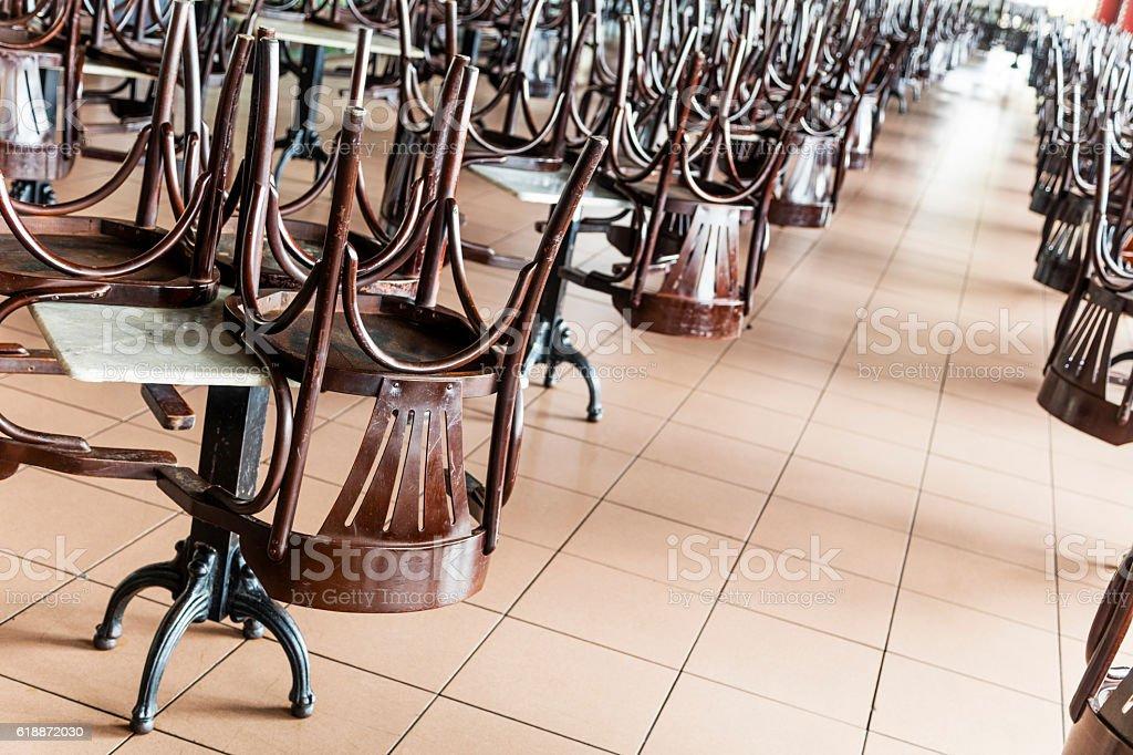 Closed restaurant stock photo