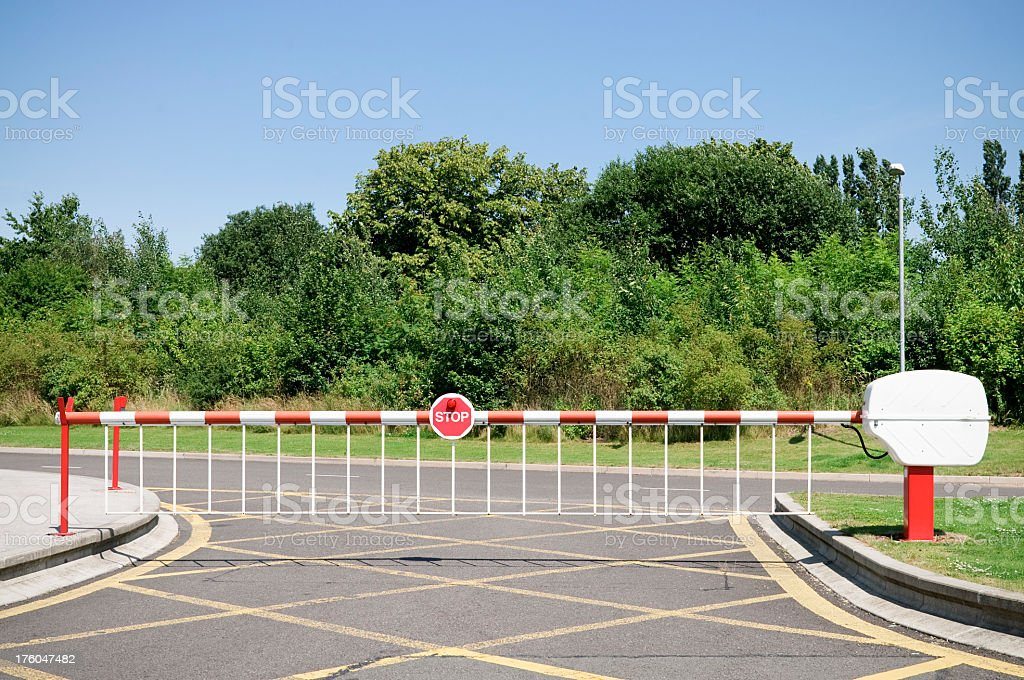 Closed Road Barrier stock photo
