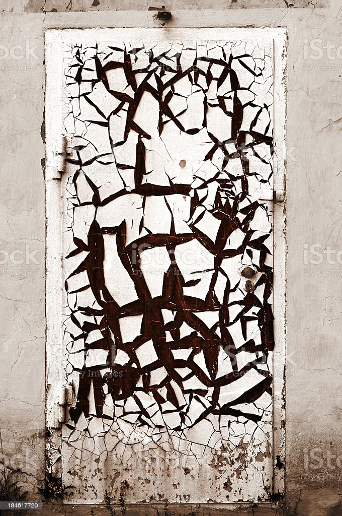 Closed Rusty Door royalty-free stock photo