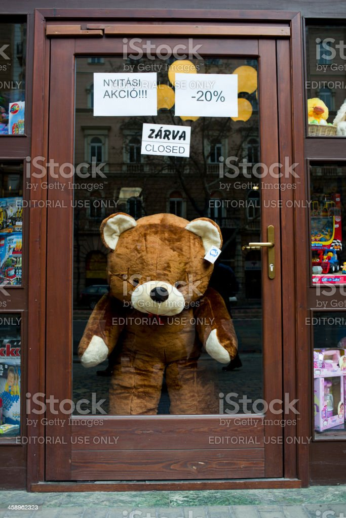 Closed Shop - Budapest, Hungary royalty-free stock photo
