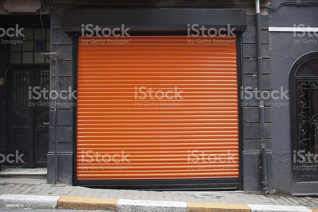 closed shop exterior stock photo