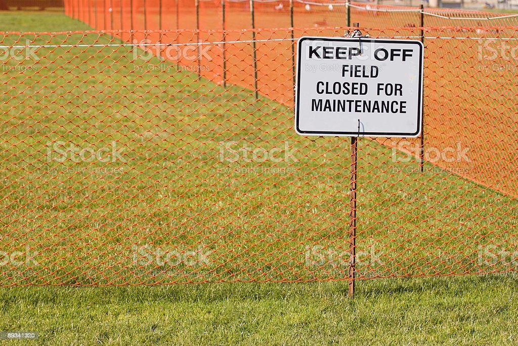 Closed Sign Long royalty-free stock photo