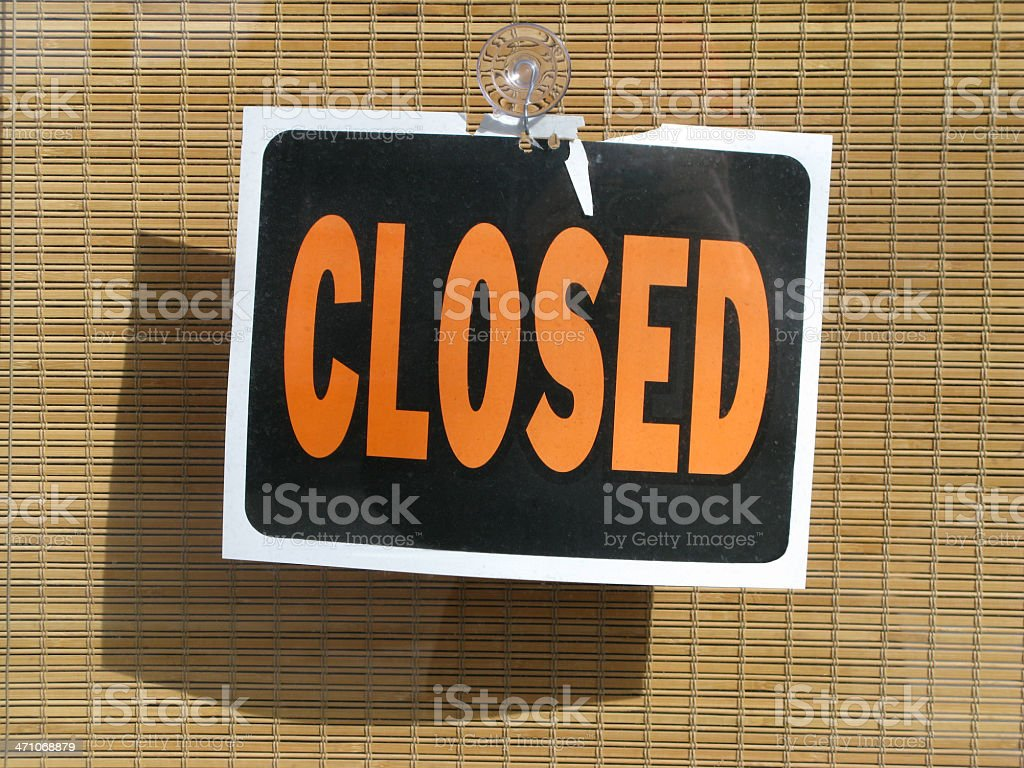 Closed sign. royalty-free stock photo
