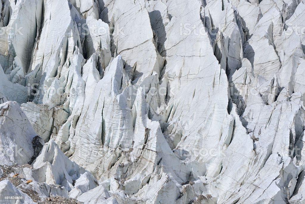 Closed up of Passu Glacier. stock photo