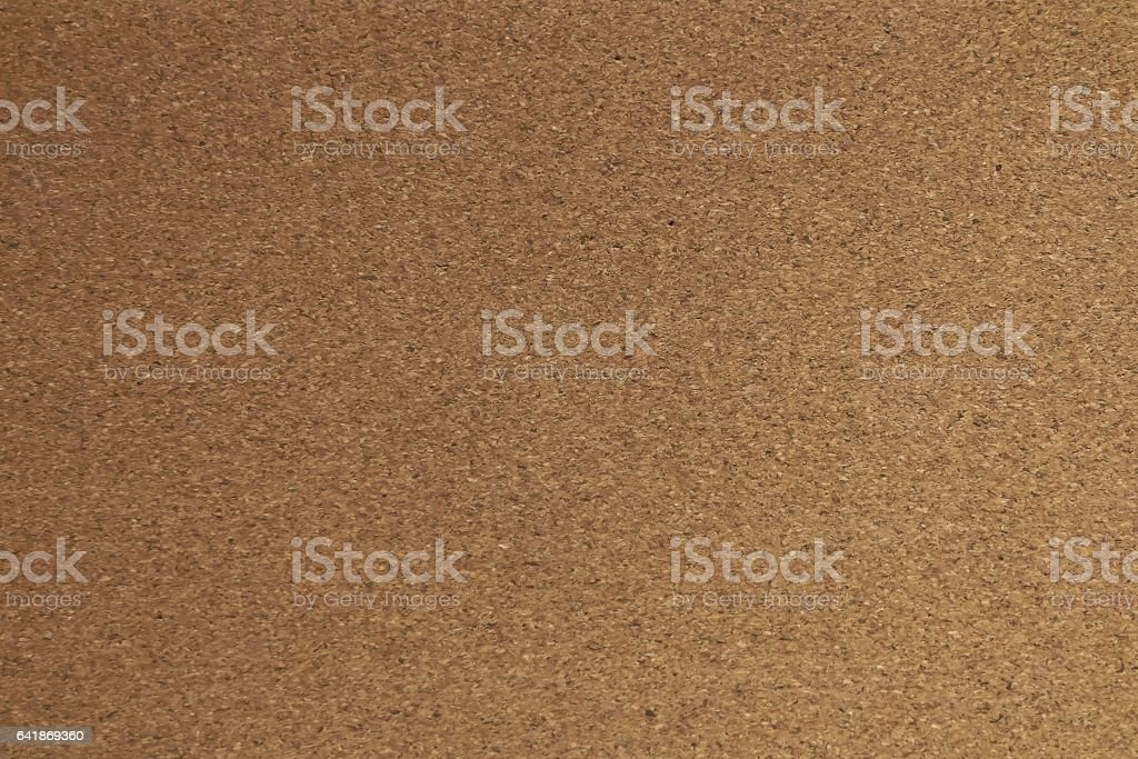 Closed Up of Texture of Brown Cork Board stock photo