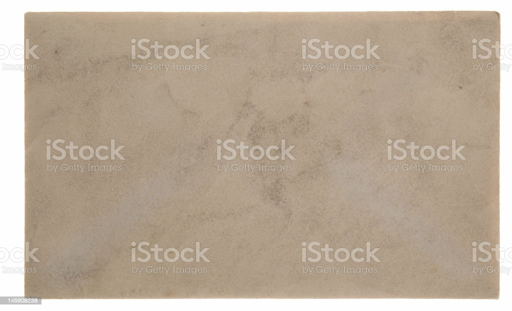 Closed vintage envelope from the front stock photo