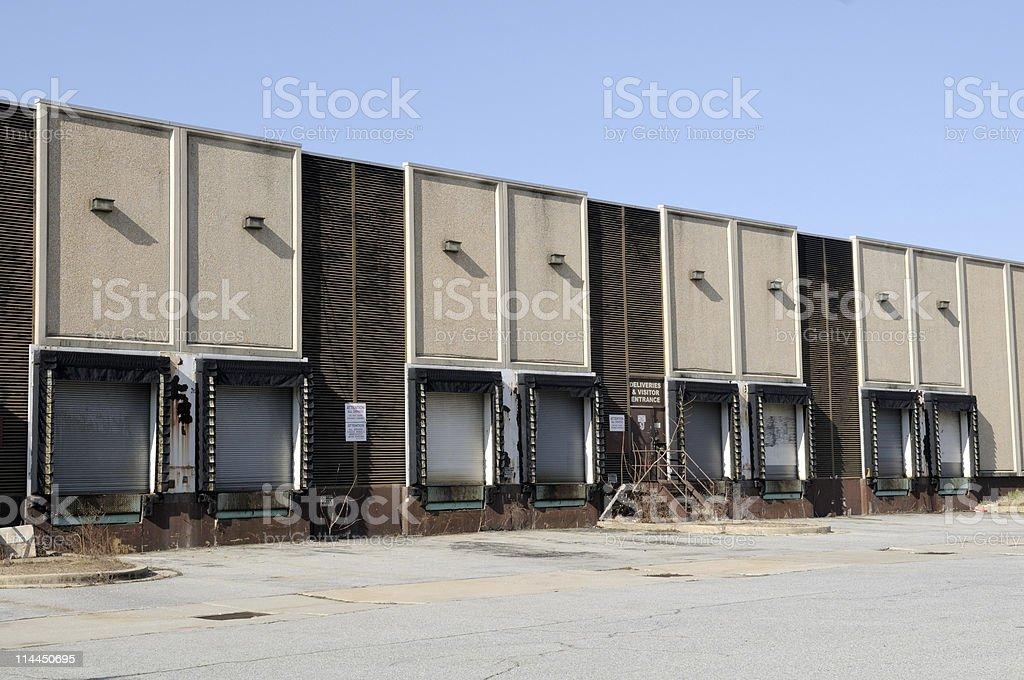 Closed Warehouse Shipping Docks royalty-free stock photo