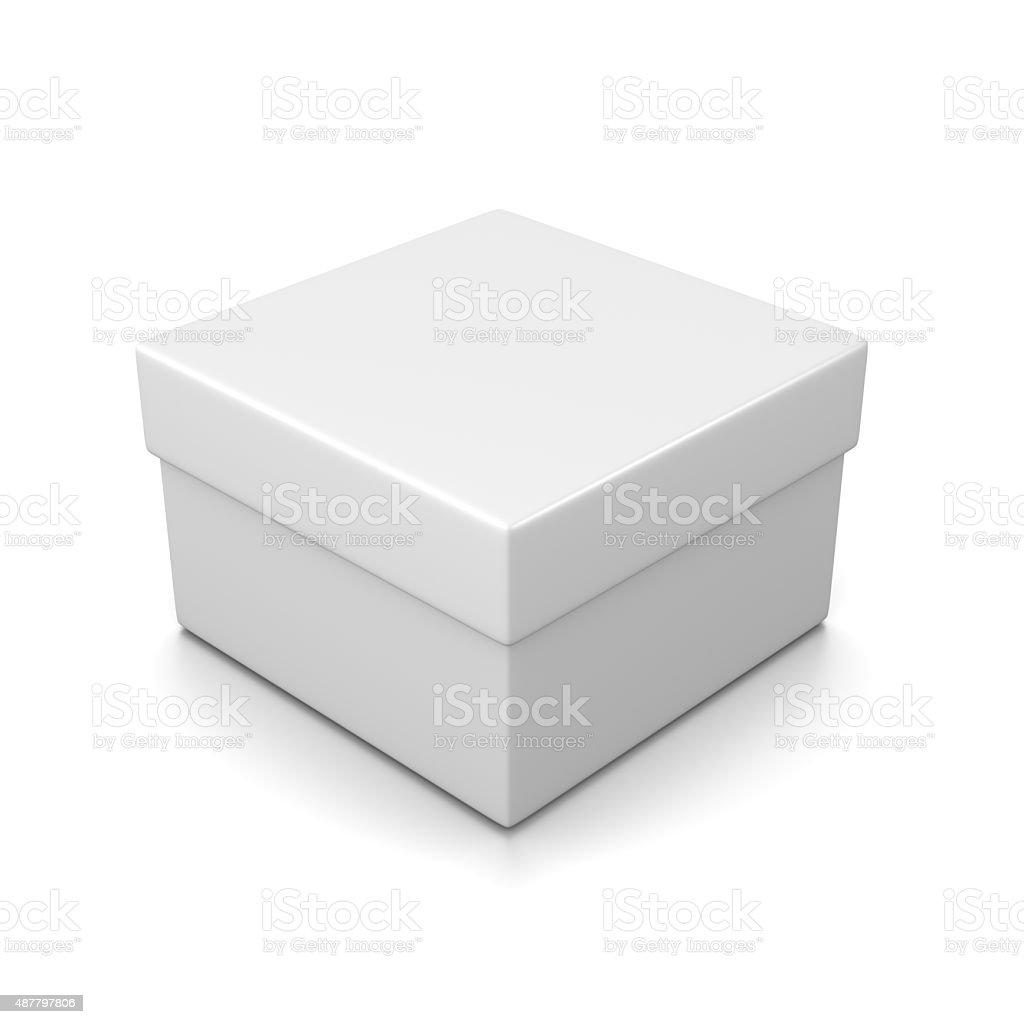 Closed White Box stock photo