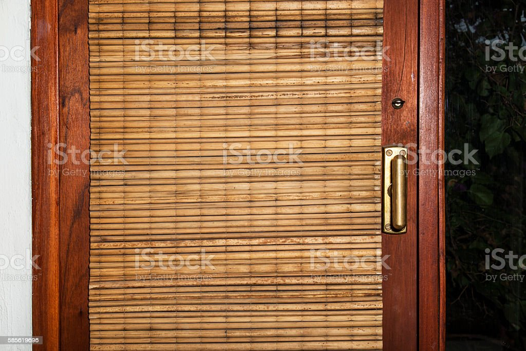 closed window with mat stock photo
