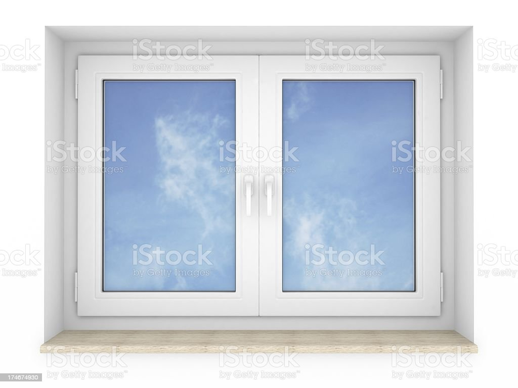 closed windows royalty-free stock photo