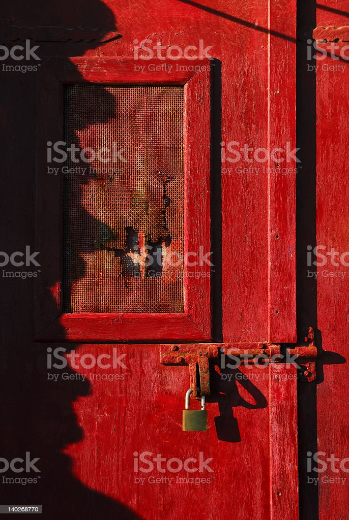 Closed with a lock stock photo