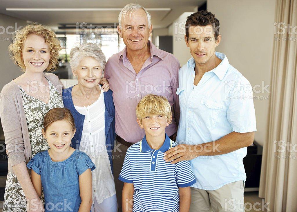 Close-knit family royalty-free stock photo