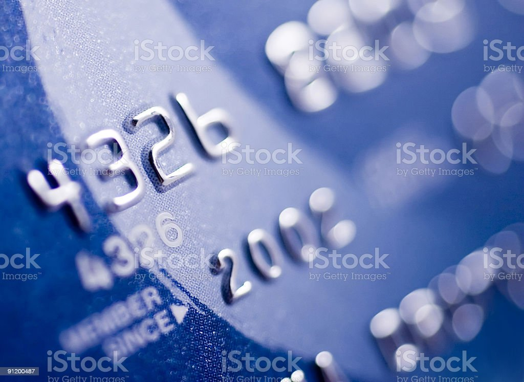 Closer look at credit royalty-free stock photo