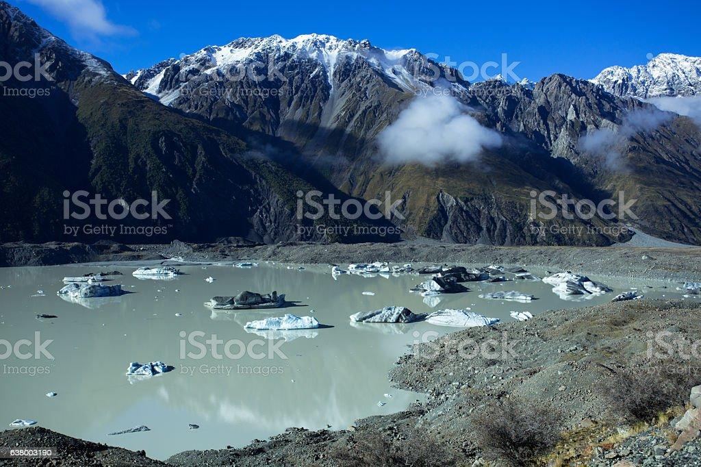 Closer Look At The Tasman Lake stock photo