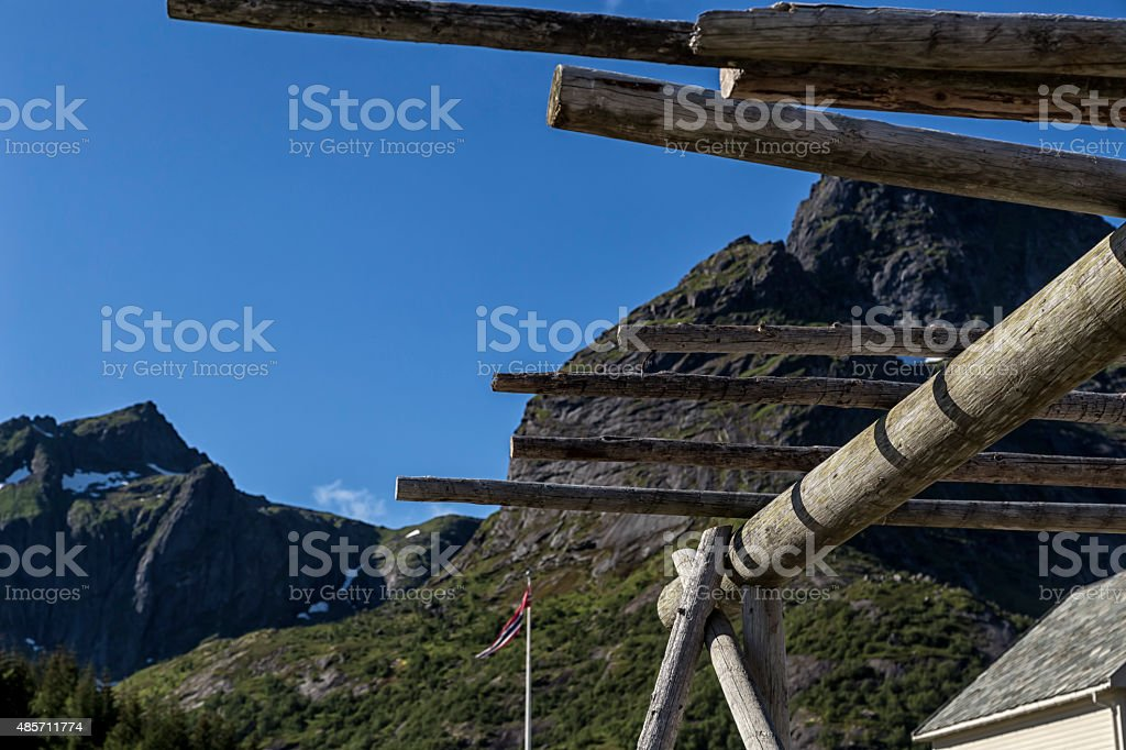 Closer look on a fish drying equipment royalty-free stock photo