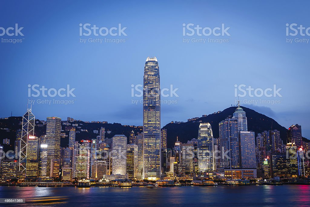 Closer look on the Hong Kong Island stock photo