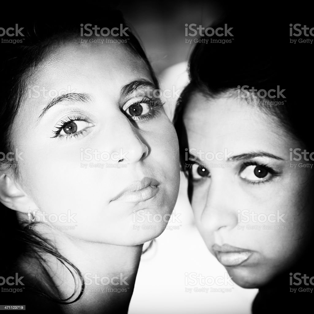 Closer. Sister Portrait. stock photo