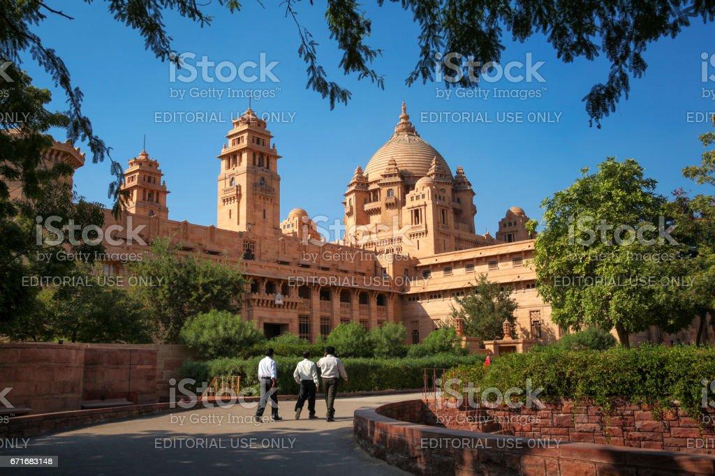 A closer view of Magnificent Umaid Bhawan Place - Jodhpur stock photo