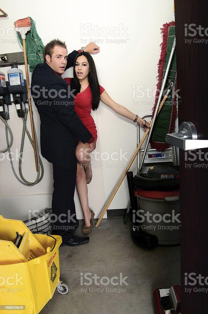 Closet Couple stock photo
