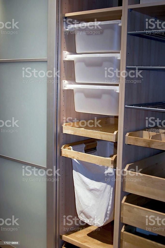 Closet Storage royalty-free stock photo