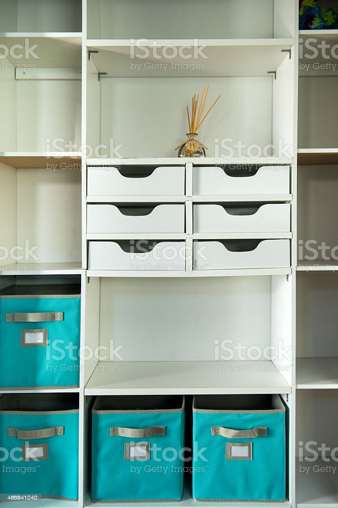 Closet Storage stock photo