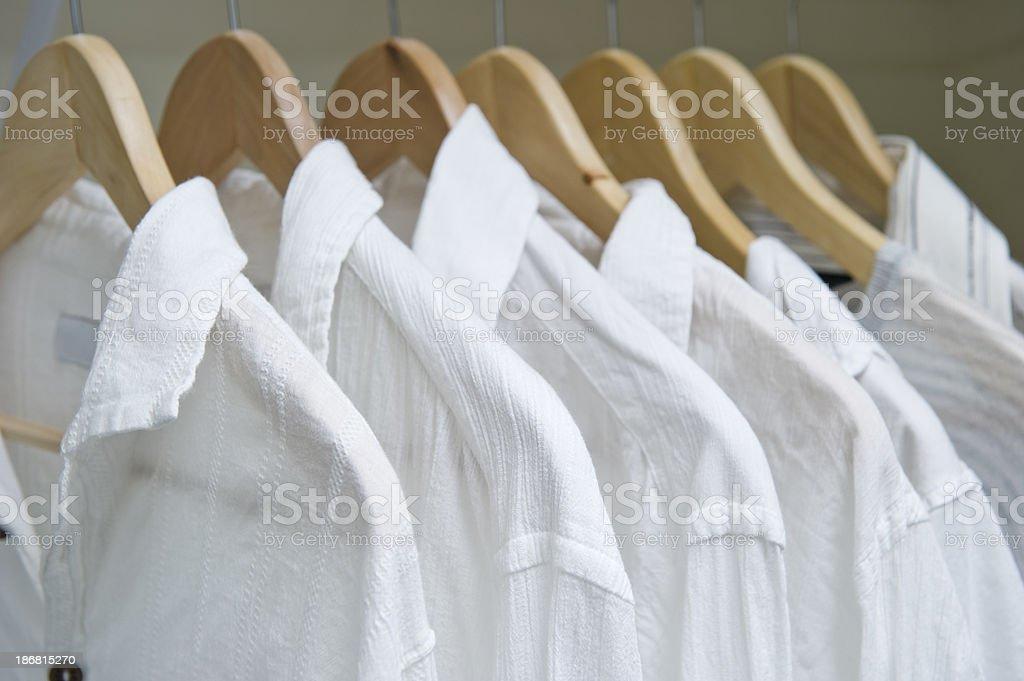 Closet With White Shirts royalty-free stock photo