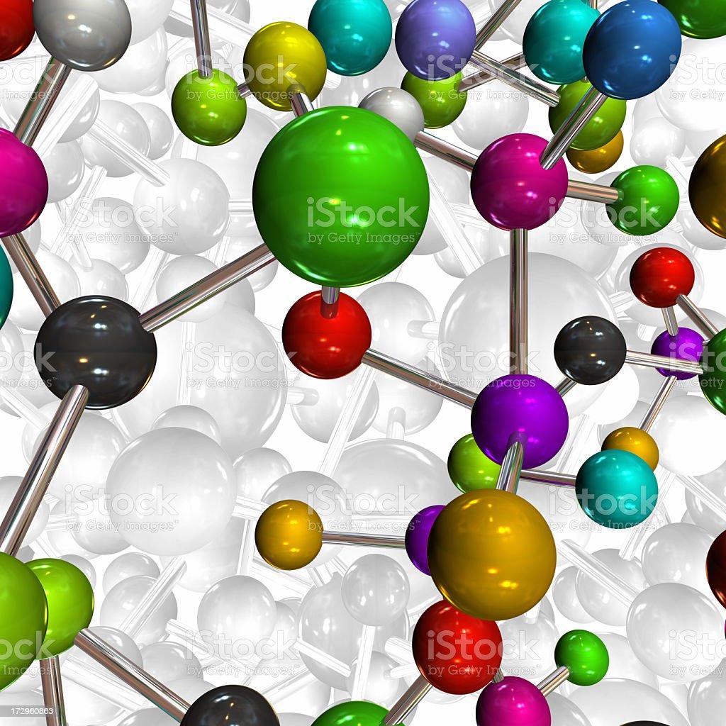 Close-up 3D plastic atom molecule model royalty-free stock photo